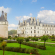Chenonceau castle with garden, France — Stock Photo