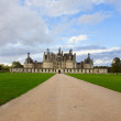Stock Photo: Road to Chambord chateau, France