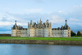 Facade of Chambord chateau at sunset, France — Stock Photo