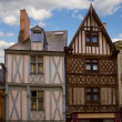 Timbered houses, Angers, France — Stock Photo