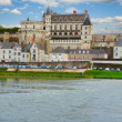 Amboise castle over river, France — Stock Photo