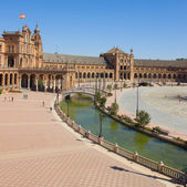 View of square of Spain, Sevilla, Spain — Stockfoto