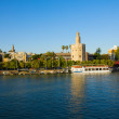 Cityscape of Seville with Guadalquivir, Spain — Stock Photo