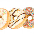 Stock Photo: Row of five donuts