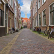 Street in old town, Haarlem, Netherland — Stock Photo