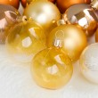 Christmas golden balls — Stock Photo #30328439