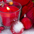Christmas red candle — Stock Photo #30329697