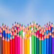 Back to school pencils  border — Stock Photo