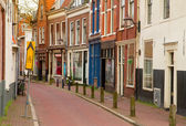 Street in old town of Haarlem — Stock Photo