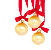 Hanging three golden balls — Stock Photo