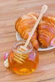 Honey for breakfast — Stock Photo