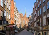 Old Mary's street, Gdansk, Poland — Stock Photo