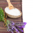 Fresh lavender spa set — Stock Photo