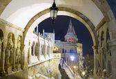 Fisherman's Bastion at night, Budapest — Stock Photo
