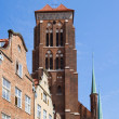 Tower of St Mary's church, Gdansk — Stock Photo