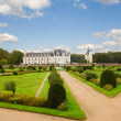 Chenonceau garden and castle, France — Stock Photo