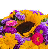 Colorful bunch of autumn flowers close up — Zdjęcie stockowe
