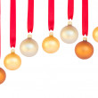 Hanging row of christmas balls — Stock Photo #31937521