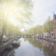 Embankment of canal ring, Amsterdam — Stock Photo #32197297