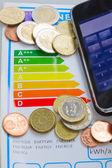 šetřit peníze díky energetické účinnosti koncepce — Stock fotografie