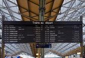 Horários de bordo dos trens — Foto Stock