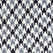 Tweed fabric houndstooth texture — Stock Photo