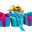 Pile of gift boxes — Stock Photo