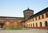 Sforza 's castle in Milan — Stock Photo