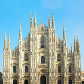 Facade of cathedral of Milano, Italy — Stock Photo