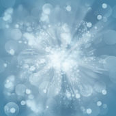 Blue christmas bokeh background — Stock Photo