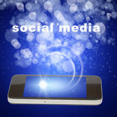 Smart phone and social media — Stock Photo