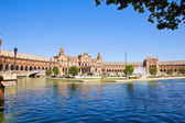 Plaza de Espana at summer day, Seville, Spain — Stock Photo