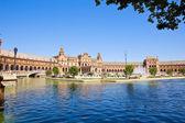 Plaza de Espana at summer day, Seville, Spain — Stock Photo