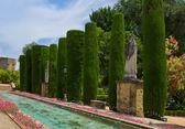 Gardens at the Alcazar in Cordoba, Spain — Stock Photo