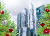 Christmas in the city — Stock Photo
