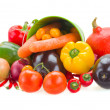 Foto Stock: Pile of vegetables