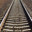 Line of railway  track — Stock Photo