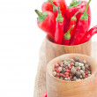 Stock Photo: Mix of red pepper and peppercorn