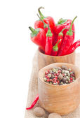 Mix of red pepper and peppercorn — Stock Photo