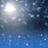 Christmas snowy night background — Stock Photo