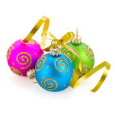 Drei weihnachtskugel — Stockfoto