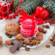 Macaroons with christmas tree — Stock Photo