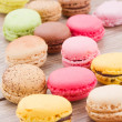 Stock Photo: Assorted macaroons c