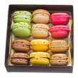 Stock Photo: Box full of macaroons