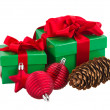 Stock Photo: Green gift boxes