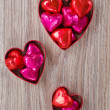 Set of heart candies — Stock Photo