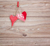 Two hanging hearts — Stock Photo