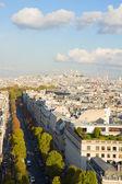 Av Hoche and Mont Matre hill, Paris, — Photo
