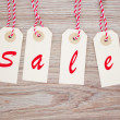 Sale tags — Stock Photo