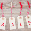 Sale hanging tags — Stock Photo